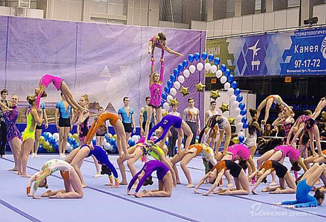 Гимнасты на соревнованиях