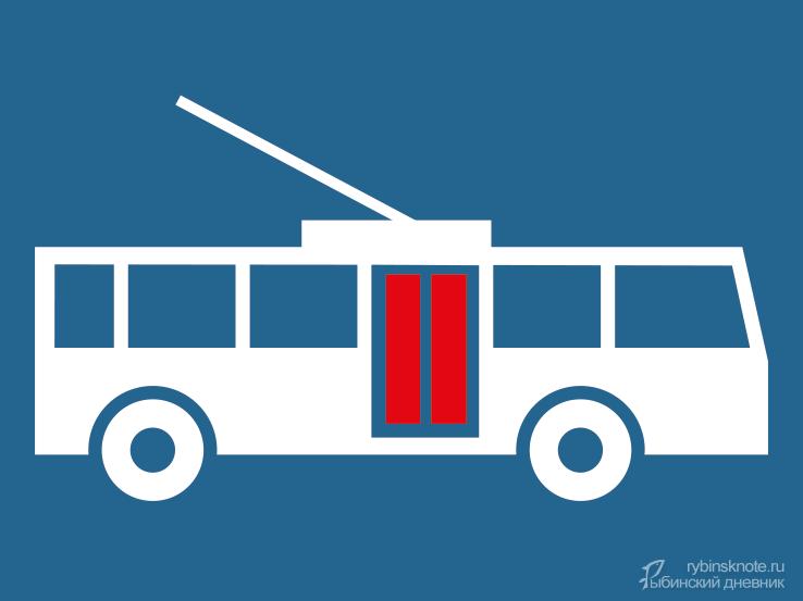 Схематичный троллейбус