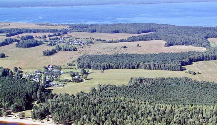Юршинский остров вид с высоты