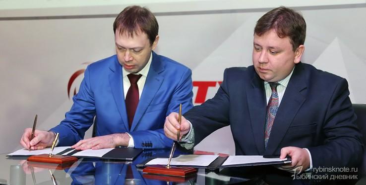 """Подписание соглашения между """"Сатурном"""" и """"Ростелекомом"""""""