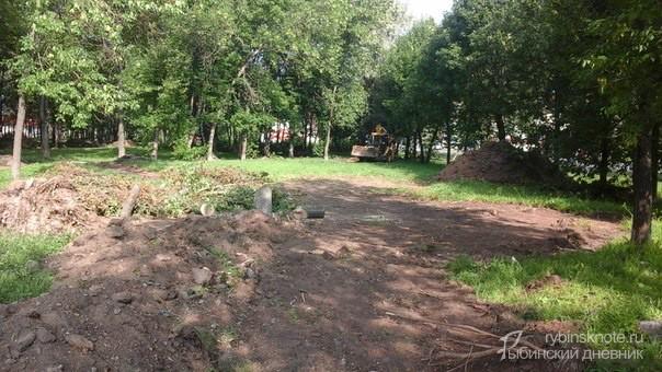 Благоустройство парта на проспекте Серова в Рыбинске