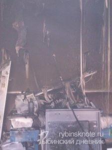 пожар в типографии в Рыбинске