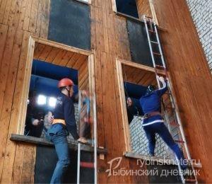 Соревнования пожарных в Рыбинске