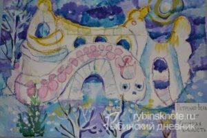 Конкурс детских рисунков Снежная крепость