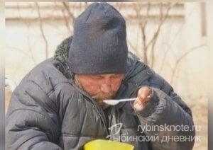 Кормят бездомных