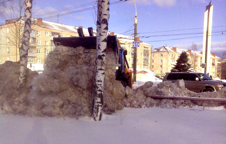 Переброс снега
