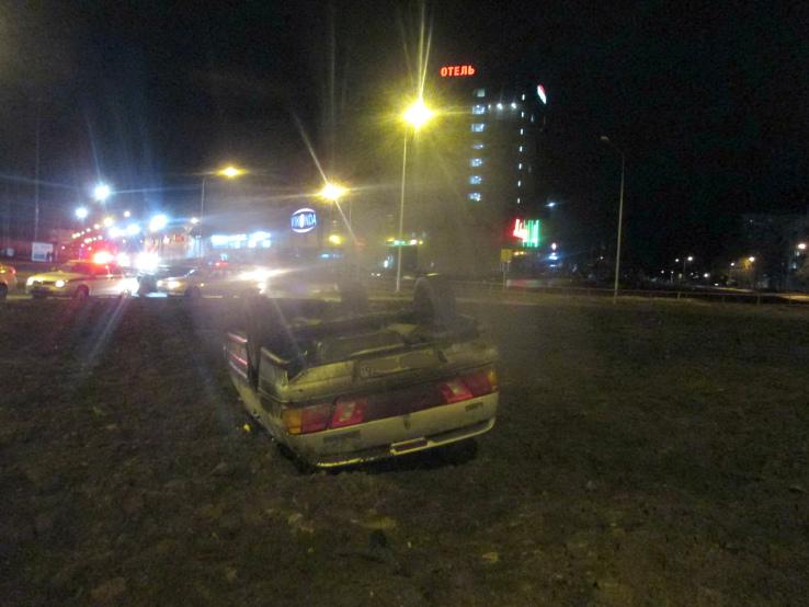 ВРыбинске перевернулся «ВАЗ»